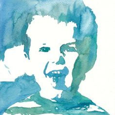 tutorial for making an easy watercolor portrait using a simple tracing technique