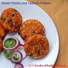 Sweet Potato and Tapioca Cakes, a relatively healthy one-dish brunch or lunch meal.