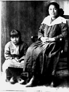 Mertie Rusk, Bertha Big Eagle-Jones - Osage - no date