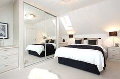 Gorgeous monochrome themed bedroom at our new development in West Yorkshire: http://bit.ly/1k5m73b