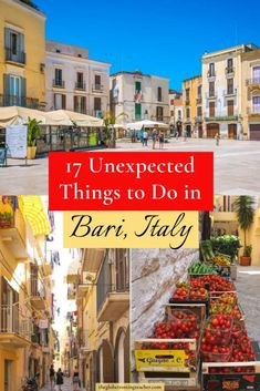 Wondering about the best things to do in Bari, Italy? Here are 17 unexpected Bari things to do to include as part of your Puglia Italy itinerary! | #Bari #Italy #Travel #europe Cool Places To Visit, Places To Travel, Travel Destinations, Italy Travel Tips, Travel Europe, Travel Around The World, Around The Worlds, Stuff To Do, Things To Do