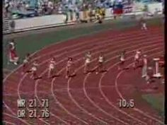 Flo-jo 200m Semi-final 21.56WR perhaps she was a cheat, but it's still awesome to watch