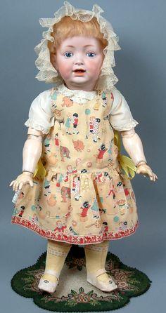 "Beyond Adorable- RARE 22"" Kestner 'Sammy' 211 Character Toddler from kathylibratysantiques on Ruby Lane"