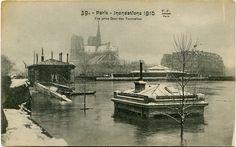 #Quai des #Tournelles #1910 #Crues #Paris #Geneanet #Monuments