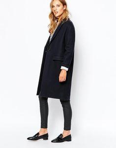 Sessun | Длинное темно-синее пальто Sessun Harry на ASOS