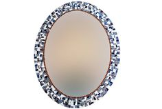 Blue and Gray Oval Mosaic Wall Mirror by GreenStreetMosaics, $195.00