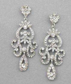 Bridal Earrings Wedding Chandelier Dangle Crystals Jewelry