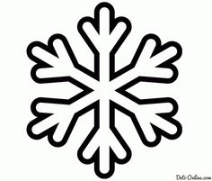 Preschool Snowflake Pattern | Раскраска Снежинка для маленьких ...