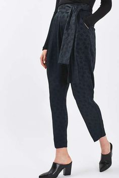 Jacquard Carrot Leg Trousers by Boutique - Topshop USA