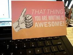 I know its just a postcard - but I really want a poster size motivational writing card:)