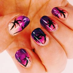"""""""I painted these cuz I missed coachella this year... (follow me on instagram: @paint_n_polish)"""""""