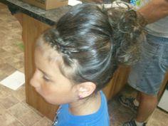 dance recital hair for a little girl
