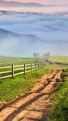 Nature Country Fence Road View iPhone 6 wallpaper Wallpapers