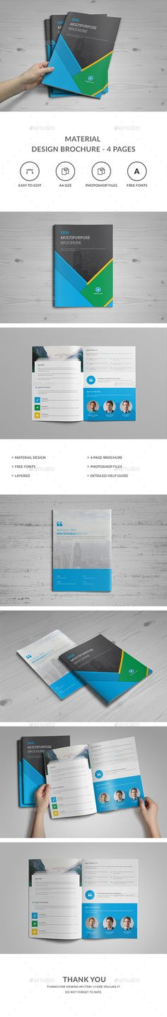 Material Design Brochure Template PSD. Download here: http://graphicriver.net/item/material-design-brochure-template/15642220?ref=ksioks