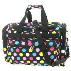 0a4a023f640c Multi Polkadots Duffle Dance Cheer Gym Travel Bag 19