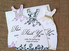 Bridesmaid Thank You Card. Thank You for being my by SKOPrints