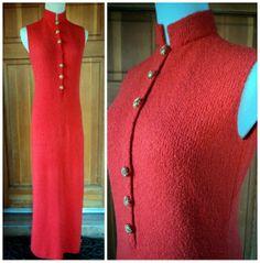 Vintage 60s St. Johns Maxi Dress Santana Knit by caligodessvintage