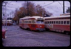 TTC Toronto original rail slide PCC # 4328 taken 1973
