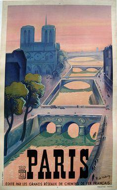 Vintage Travel poster / Roger de Valerio