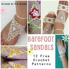 12 Free Crochet Patterns for Barefoot Sandals...perfect timing, awesome!
