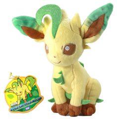 Takara Tomy Pokemon Plush Doll Leafeon Folipurba Phyllali N-48.bag With gifts #TakaraTomy