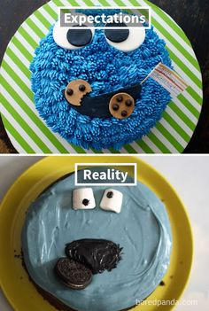 Bad Birthday Cakes : birthday, cakes, Cakes, Ideas, Cakes,, Fails,, Expectation, Reality