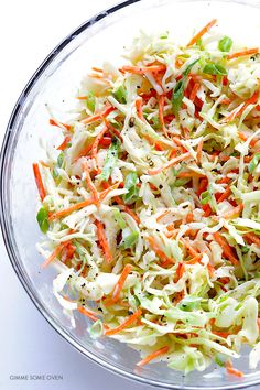 This Greek Yogurt Coleslaw recipe is mayo-free, lighter, quick and easy to prepare, and perfectly creamy and delicious!