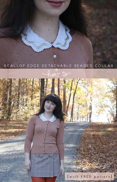 megan nielsen design diary: DIY beaded scallop edge detachable collar (with FREE pattern)