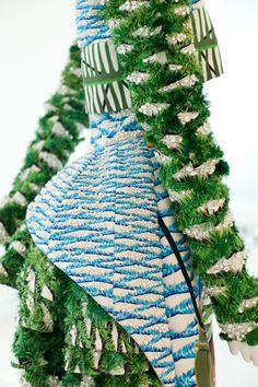 Further detailing of Mary Katrantzou AW12. See how the pearl beading and Swarovski Elements add to this incredible 3D design