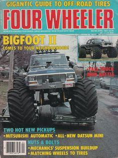 BIGFOOT II on the April 1983 cover of Four Wheeler Magazine #MonsterTrucks