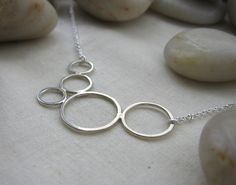 Bubble Necklace, sterling silver.