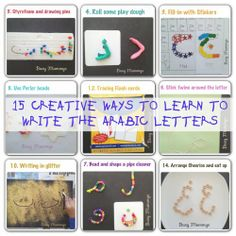15 Creative Ways to Learn to Write the Arabic Letters - Busy Mummys Alphabet Activities, Language Activities, Kindergarten Activities, Activities For Kids, Learning To Write, Learning Arabic, Arabic Lessons, Teaching Aids, Arabic Language