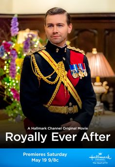 """Daniel (Torrance Coombs) reveals his true identity when he proposes to Sara (Fiona Gubelmann). """"Royally Ever After"""" premieres after the real royal wedding May 19 9/8c on Hallmark Channel! #RoyallyEverAfter #HallmarkChannel"""