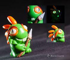 World of Warcraft inspired Baby Murloc figurine (glow in the dark)