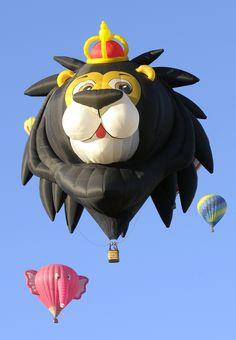 A Lion King Hot Air Balloon at the Albuquerque Balloon Fiesta, 2012 - photo by Glen Wattman, via 500px
