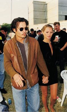 Johnny Depp + Kate Moss 1996