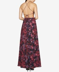 Fame and Partners Backless Abstract-Print Gown - Floral 18