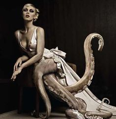 Is that a tentacle up your dress or are you glad to see me???