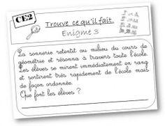 Lecture: résoudre des énigmes - Le petit cartable de Sanleane Teachers Corner, French Classroom, Cycle 3, French Immersion, Teaching Activities, Teaching French, Writing Workshop, Literacy Centers, School