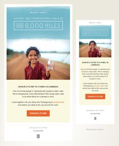 Responsive Email Design - Charity Water - Non-profit Email Layout