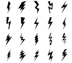 Lightning bolt icons by ssstocker on Cre. Lightning bolt icons by ssstocker on Creative Market Finger Tattoos, Body Art Tattoos, Tatoos, Mini Tattoos, Small Tattoos, Lightening Bolt Tattoo, Blitz Tattoo, Thunder And Lighting, Tattoos With Meaning