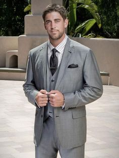 Aaron Rodgers. I love a man in a suit, YUM!