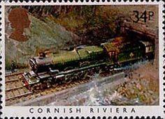 Famous Trains 34p Stamp (1985) Cornish Riviera