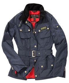 Womens Barbour Rainbow International Jacket - Red