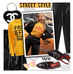 """Best NYFW Street Style Trend"" by paculi ❤ liked on Polyvore featuring Chanel, StreetStyle and NYFW"