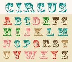 french circus font - Google Search                                                                                                                                                      More