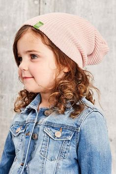 This is J | new arrivals | thisisj.com | A slouch knit hat that falls loosely in the back or roll up the wide ribbed cuff for a more classic fitted look. #thisisj #knit #kidshat