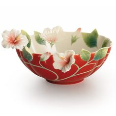 Hibiscus Bowl | Island Beauty Collection | Franz Porcelain