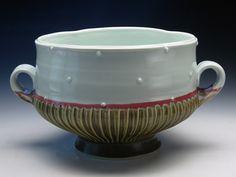 Emily Reason 12x10x6 porcelain serving bowl