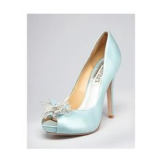"Badgley Mischka peep toe 'something blue"" shoe"